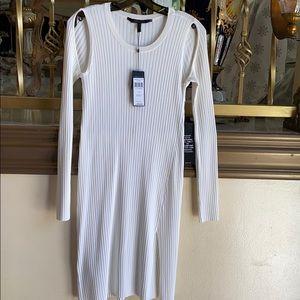 BCBGMaxzaria Cream Ribbed Dress Size S